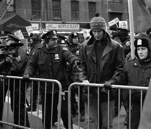 Antiwar protest, New York City, 2/15/2003