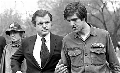 John Kerry and Ted Kennedy