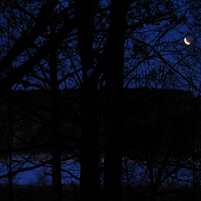 Lunar eclipse, near Wheeler, Wisconsin, March 3, 2007