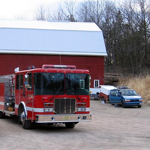 Controlled Burn, La Riviere Park, Prairie du Chien, WI, April 18, 2007