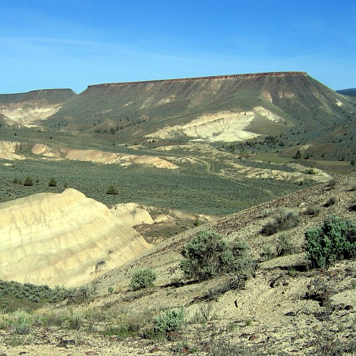John Day Fossil Beds National Monument, Sheep Rock Unit, View at Picture Gorge, 4/26/2007
