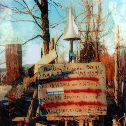 Photograph displayed at Thunder Mountain Indian Monument, Imlay, Nevada, 6/21/2007
