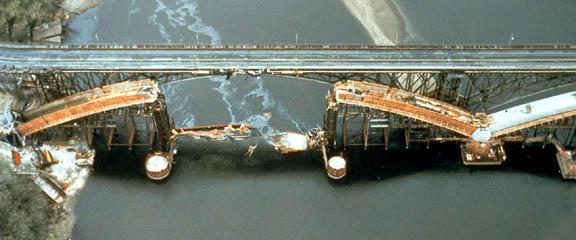 Lake Street Bridge, Minneapolis, after 1989 collapse