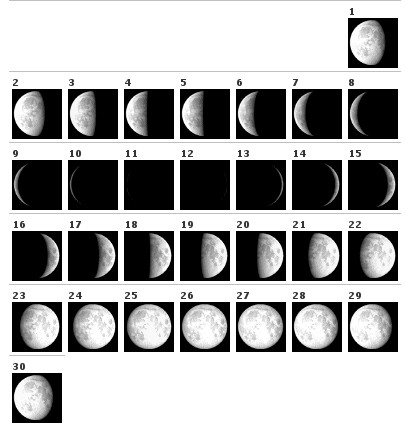 Phases of the Moon, September 2007