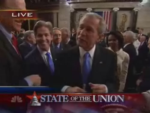 Norm Coleman at the State of the Union Address, 1/29/2007