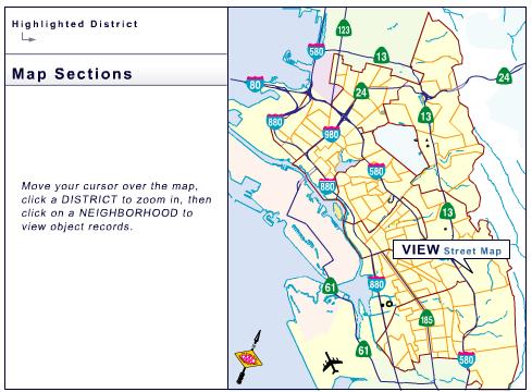 Oakland neigborhood map