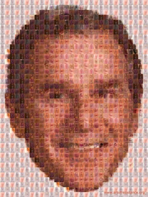George W. Bush asshole mosaic