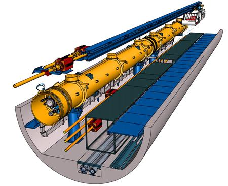 Crossection of the Alameda-Weehawken Burrito Tunnel