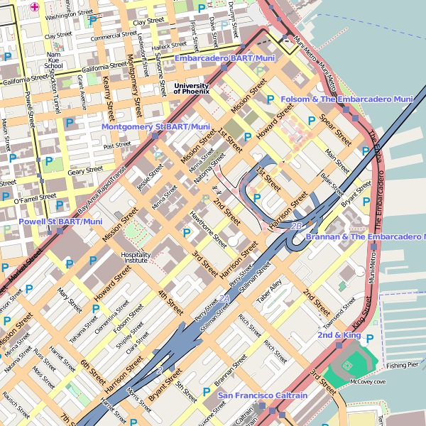Map of downtown San Francisco