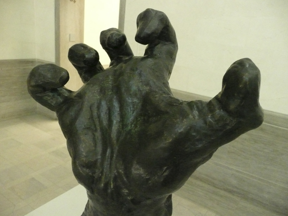 Auguste Rodin hand detail