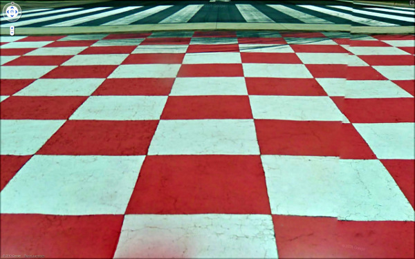 Checkerboard landscape from Google Maps