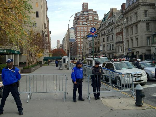 """Frozen zone"" near Michael Bloomberg's residence"