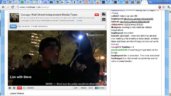 Tim Pool on livestream.com/owsnyc