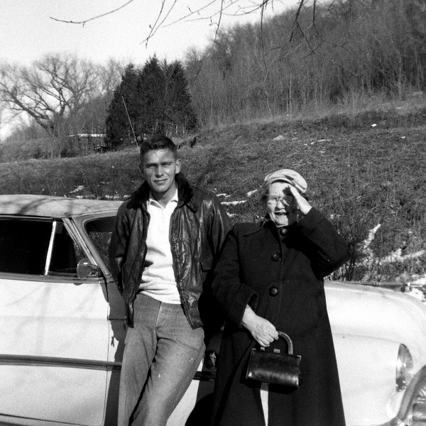Ann Erickson and Kenneth Erickson, mid-1950s, Wisconsin