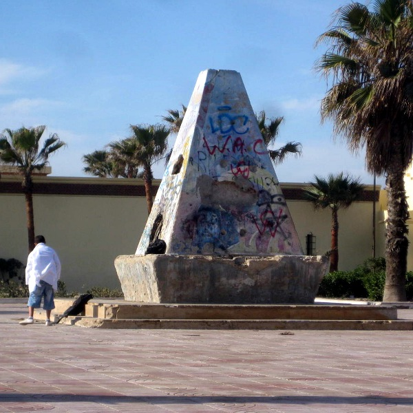 Monument to graffiti, Essaouira, Morocco
