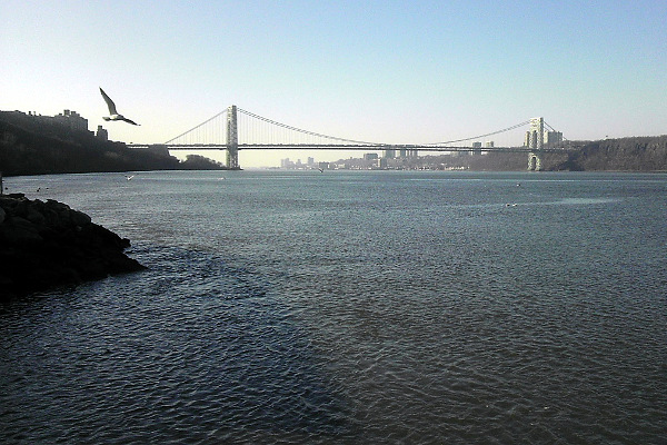 George Washington Bridge from Inwood, New York City, January 7, 2013