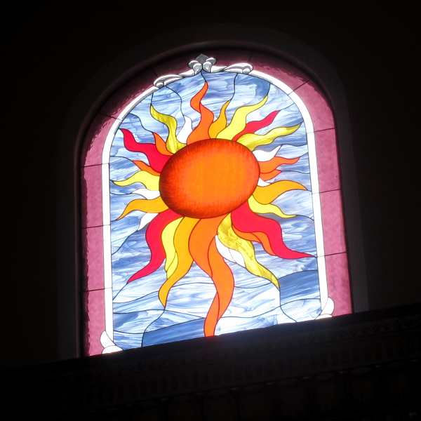 Stained glass window, St. Elizabeth Church, Oakland