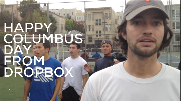 Happy Columbus Day from Dropbox