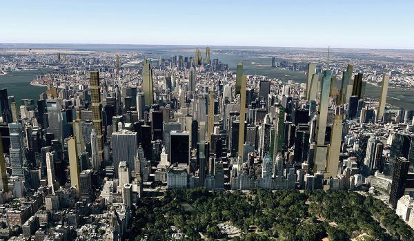 New York City skyline in 2018
