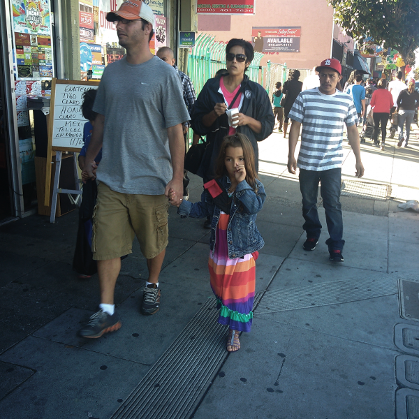 Dia de los muertos at Fruitvale Village, Oakland, 2014