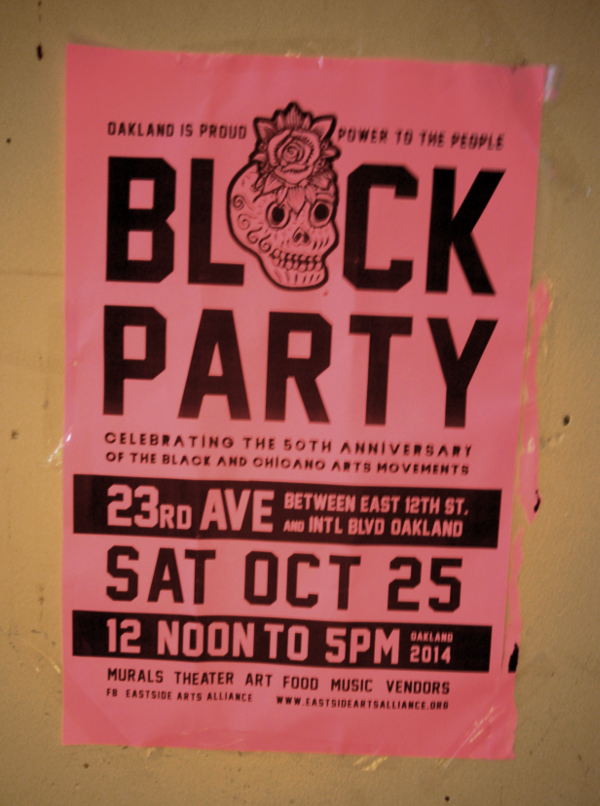 Eastside Arts Alliance Block Party, October 25, 2014