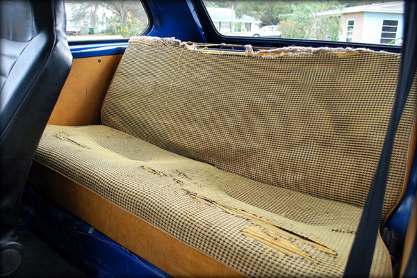 1975 Volkswagen Rabbit back seat