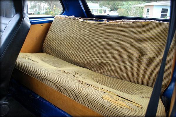 1975 Volkswagen Rabbit back seat