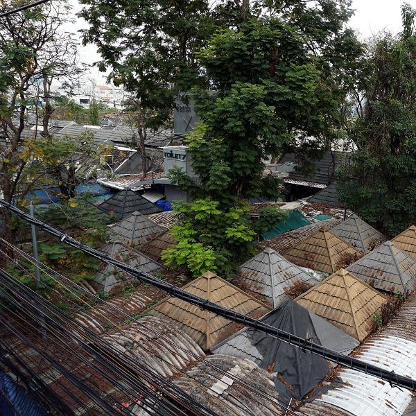 Market rooftops, Bangkok, Thailand, January 2018